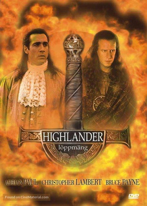 Highlander: Endgame - Estonian DVD movie cover