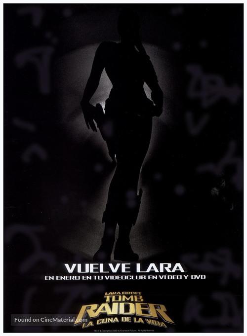 Lara Croft Tomb Raider The Cradle Of Life 2003 Spanish Movie Poster