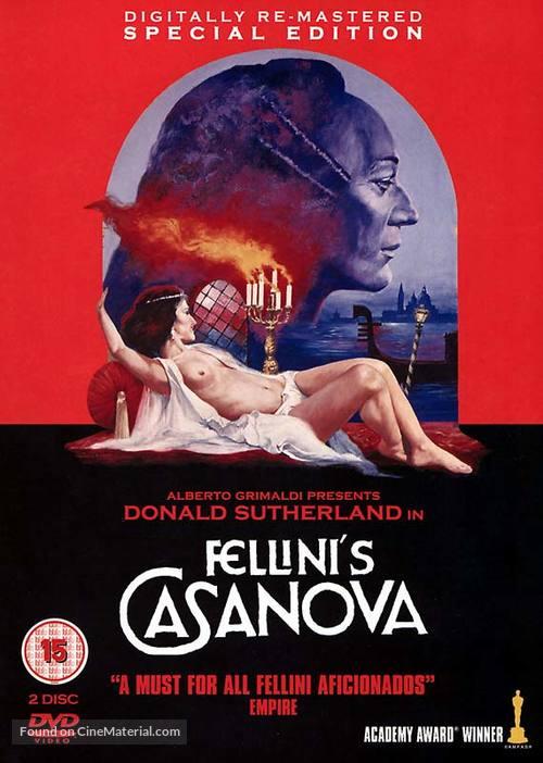 Il Casanova di Federico Fellini - British DVD movie cover