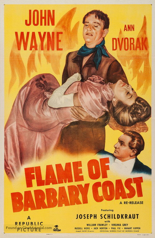 Flame of Barbary Coast - Movie Poster