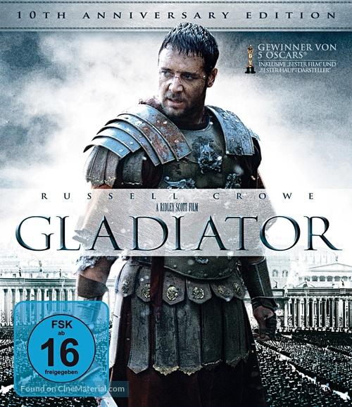 Gladiator - German Blu-Ray movie cover