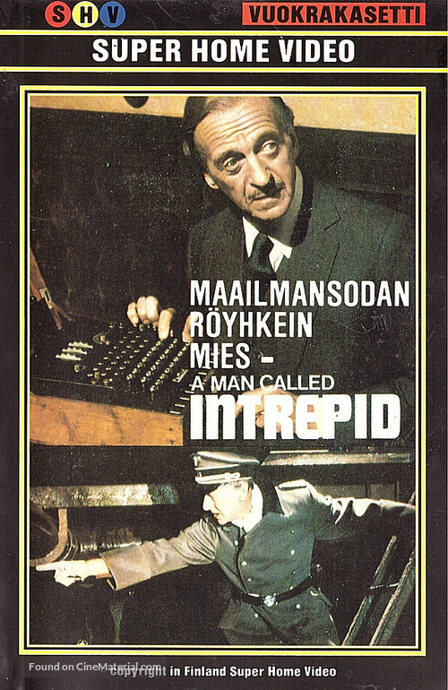 A Man Called Intrepid - Finnish VHS movie cover