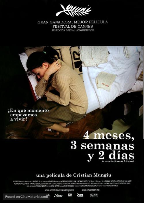 4 luni, 3 saptamini si 2 zile - Mexican Movie Poster