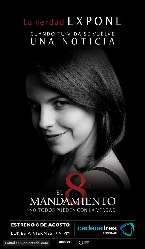 """""""El octavo mandamiento"""" - Mexican Movie Poster"""