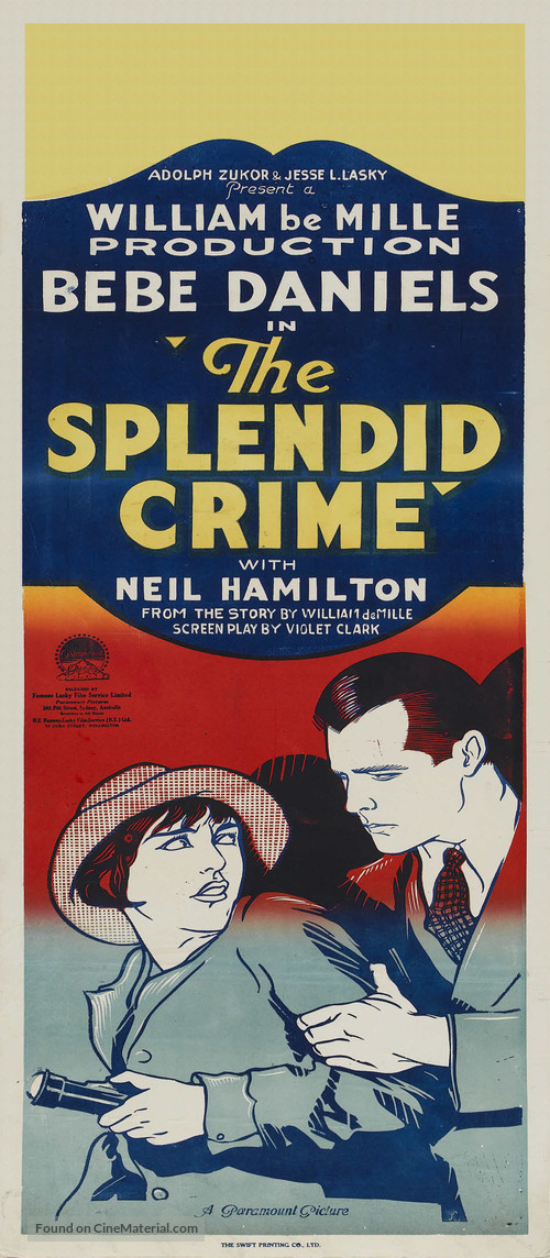 The Splendid Crime - Australian Movie Poster
