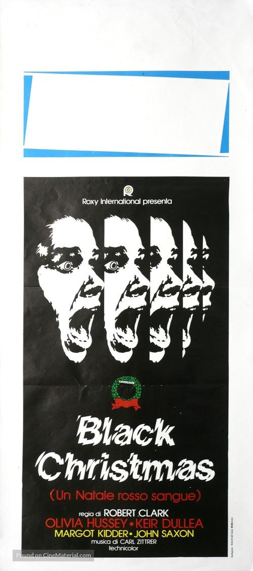 Black Christmas Italian movie poster
