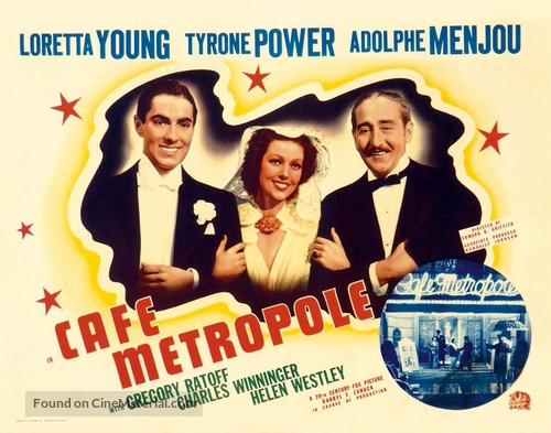 Café Metropole - British Movie Poster