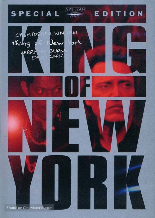 King of New York - DVD movie cover