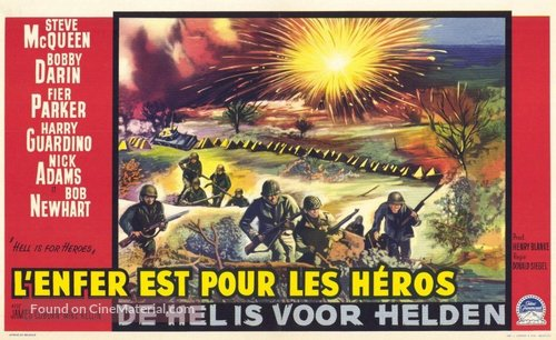 Hell Is for Heroes - Belgian Movie Poster