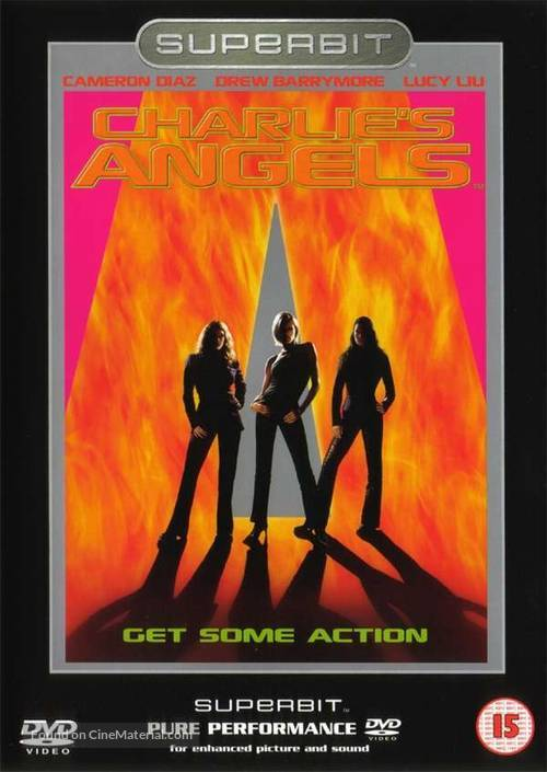 Charlie's Angels - British DVD movie cover