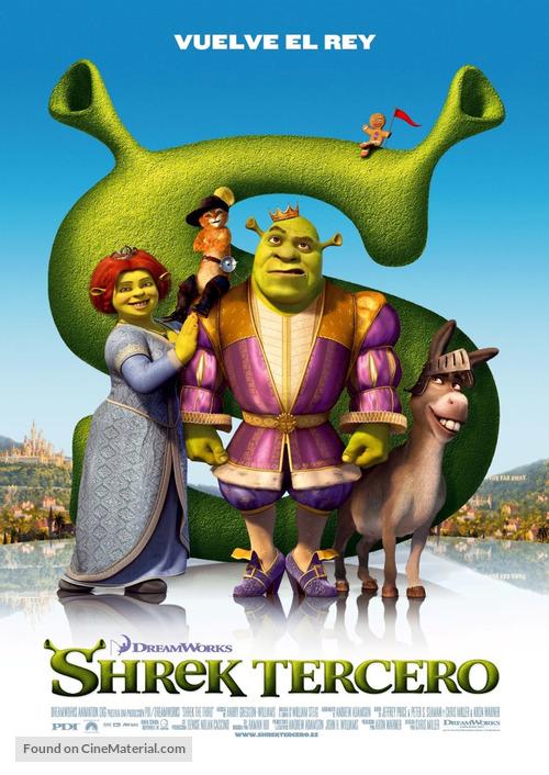 Shrek the Third - Spanish Movie Poster