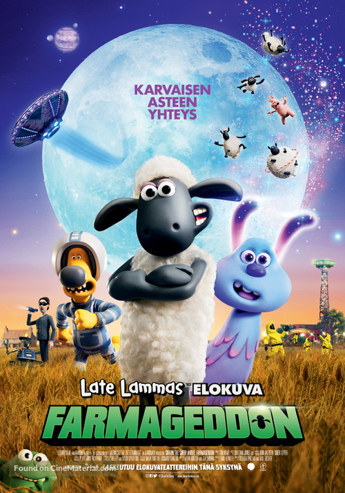 A Shaun the Sheep Movie: Farmageddon - Finnish Movie Poster