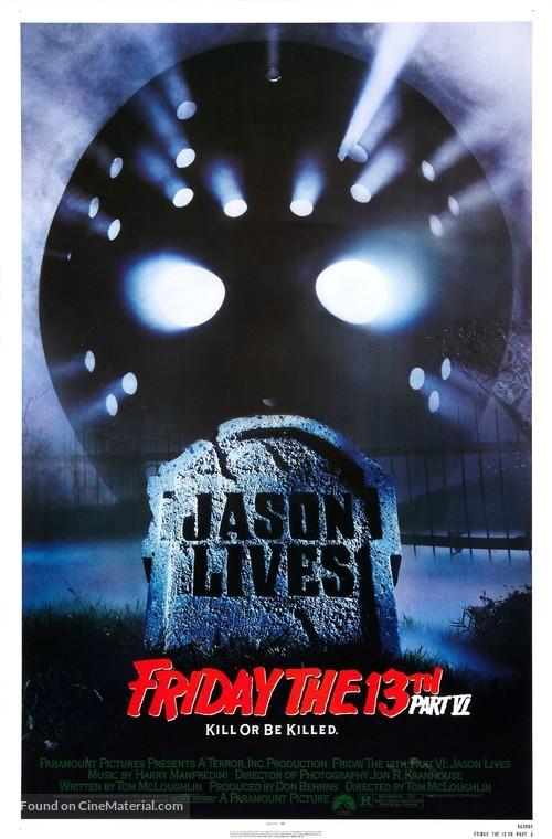 Jason Lives: Friday the 13th Part VI - Movie Poster