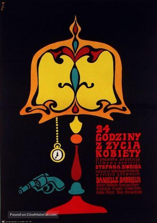 24 heures de la vie d'une femme - Polish Movie Poster