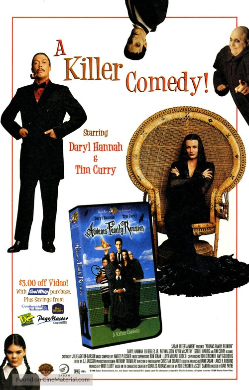 Addams Family Reunion - Video release movie poster