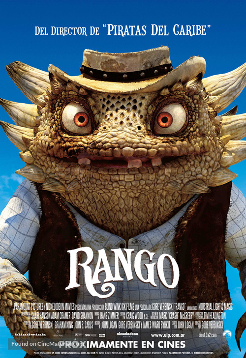 Rango - Argentinian Movie Poster