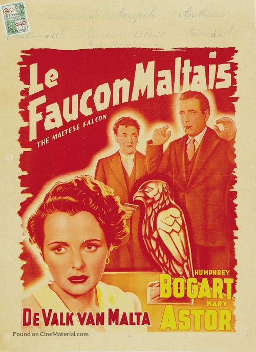 The Maltese Falcon - Belgian Movie Poster