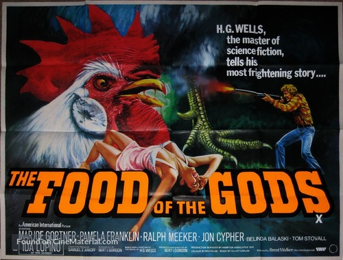 The Food Of The Gods 1976 British Movie Poster