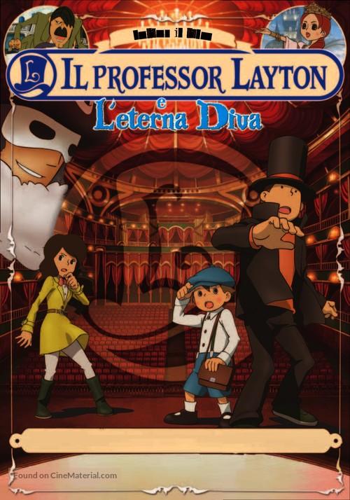 Professor Layton And The Eternal Diva 2009 Italian Dvd Movie Cover