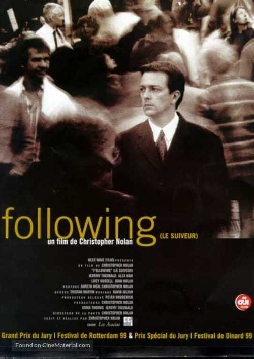 Following (1999) French movie poster