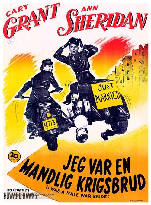 I Was a Male War Bride - Danish Movie Poster