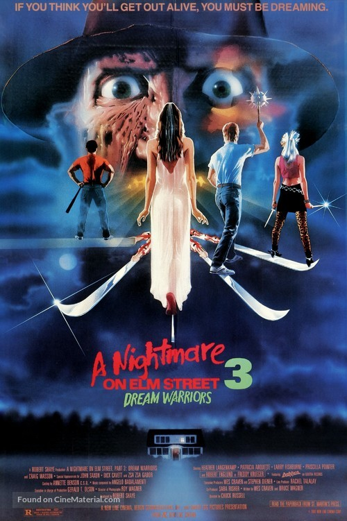A Nightmare On Elm Street 3: Dream Warriors - Movie Poster