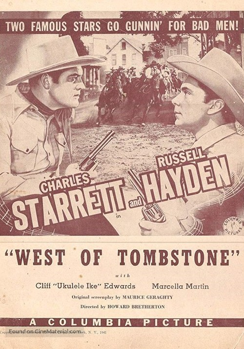 West of Tombstone - Movie Poster