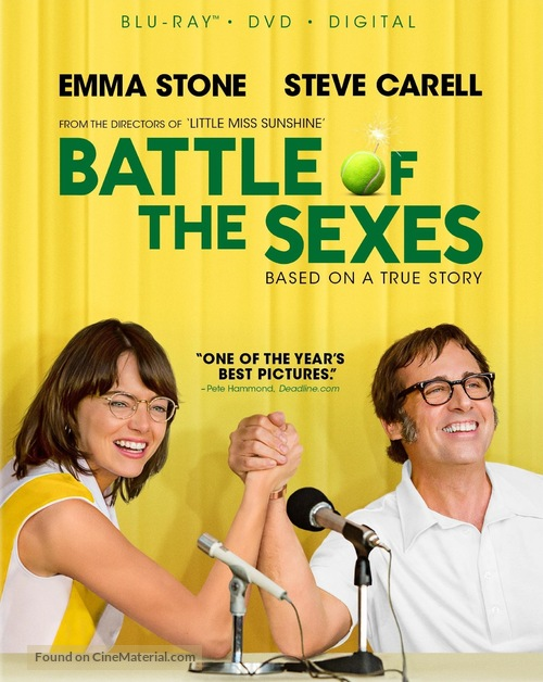 Battle of the Sexes - Blu-Ray movie cover