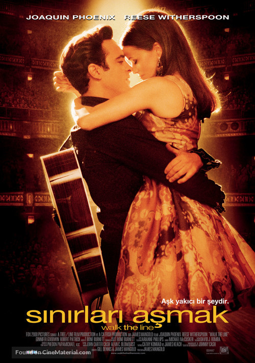 Walk the Line - Turkish Theatrical movie poster