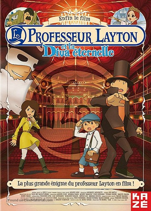 Professor Layton And The Eternal Diva 2009 French Dvd Movie Cover