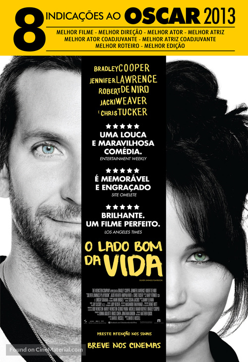 Silver Linings Playbook - Brazilian Movie Poster