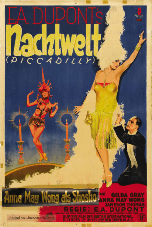 Piccadilly - German Movie Poster