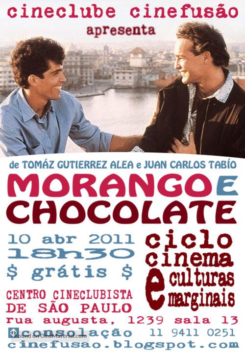 Fresa y chocolate - Brazilian poster