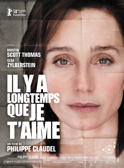 Il y a longtemps que je t'aime - French Movie Poster