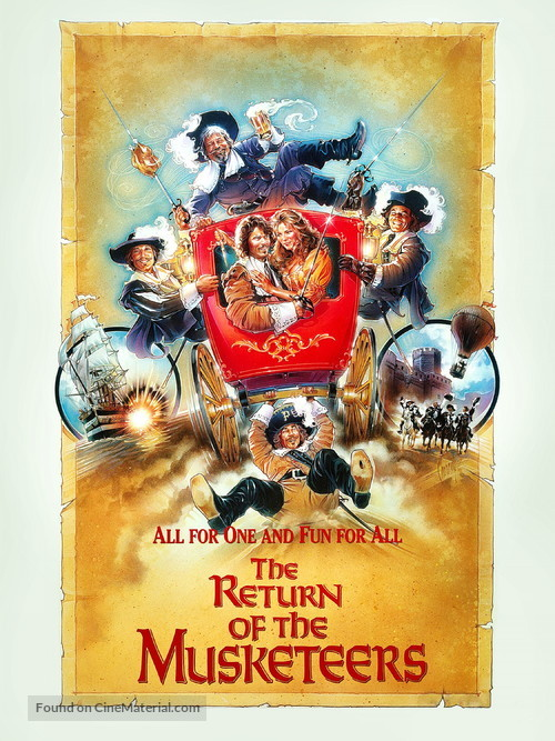 The Return of the Musketeers - British Movie Poster