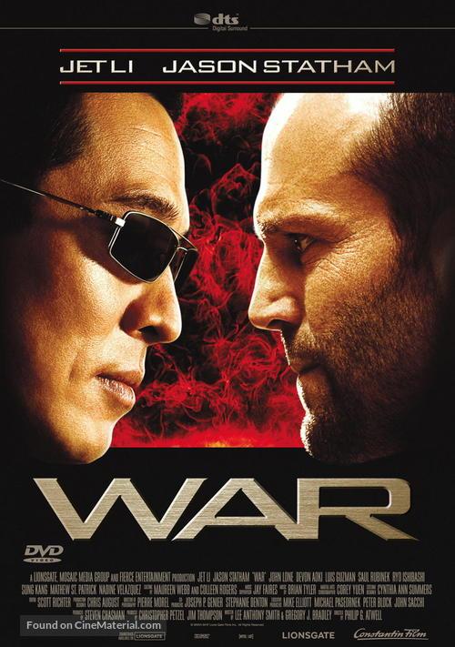 War - German DVD movie cover