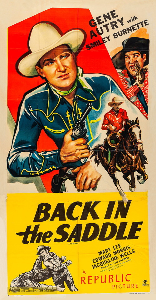 Back in the Saddle - Re-release movie poster