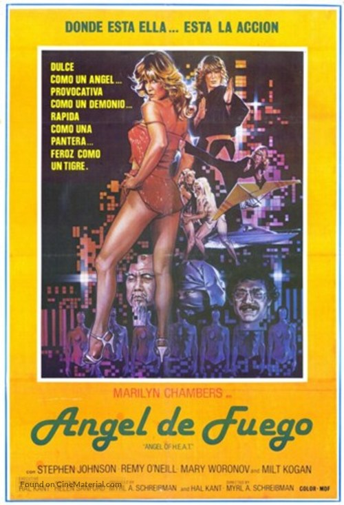 Angel of H.E.A.T. - Spanish Movie Poster