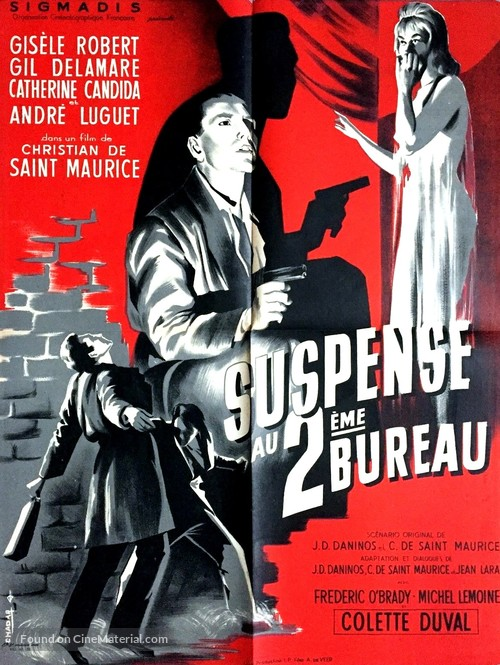 suspense au deuxi232me bureau french movie poster