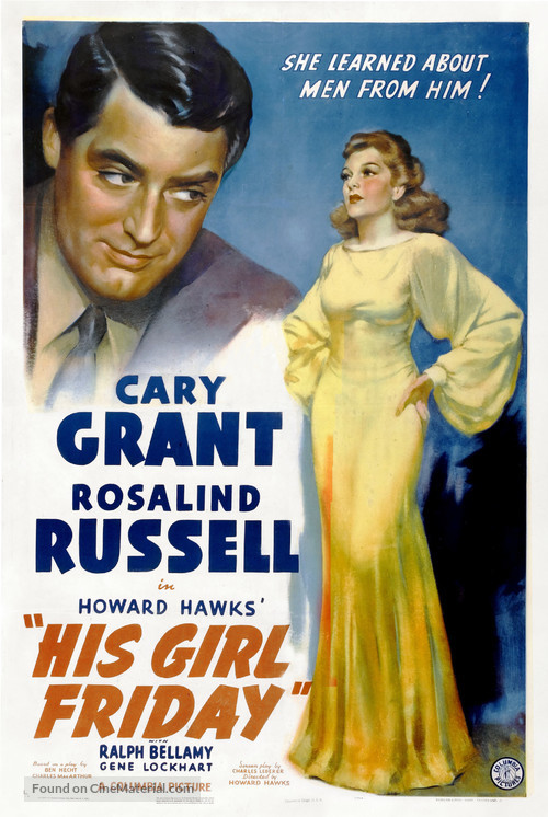 His Girl Friday - Movie Poster