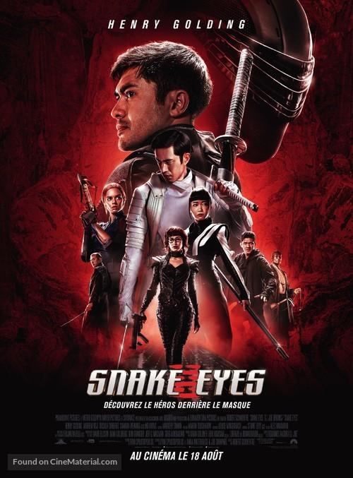 Snake Eyes: G.I. Joe Origins - French Movie Poster