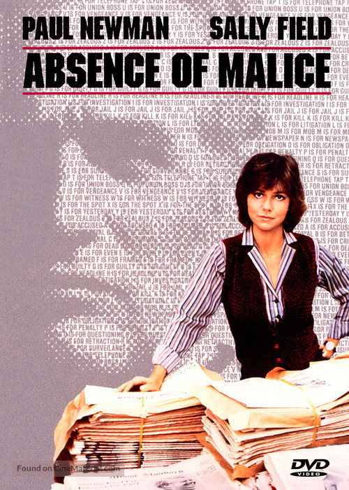 Absence of Malice - DVD movie cover