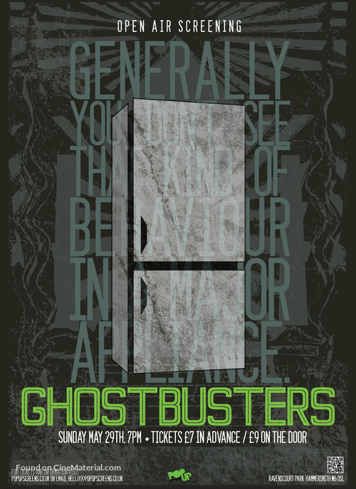Ghostbusters - British Re-release movie poster