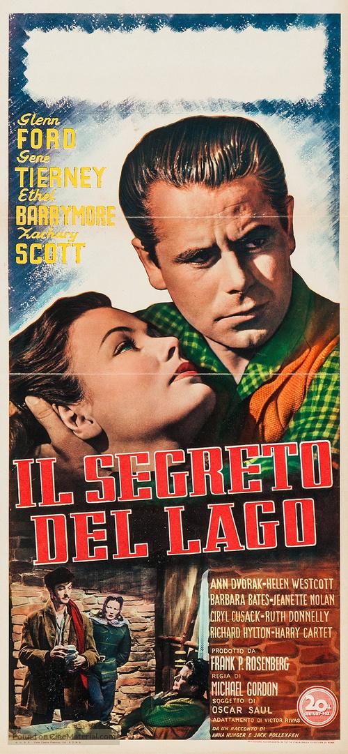 The Secret of Convict Lake - Italian Movie Poster
