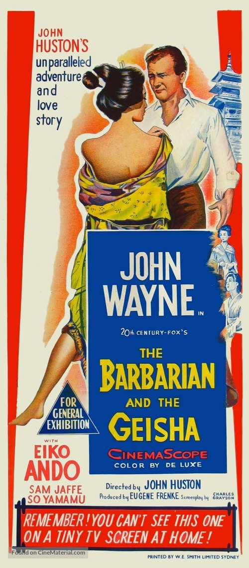 The Barbarian and the Geisha - Australian Movie Poster