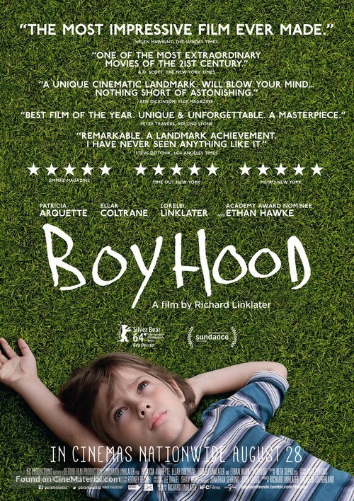 Boyhood - New Zealand Movie Poster