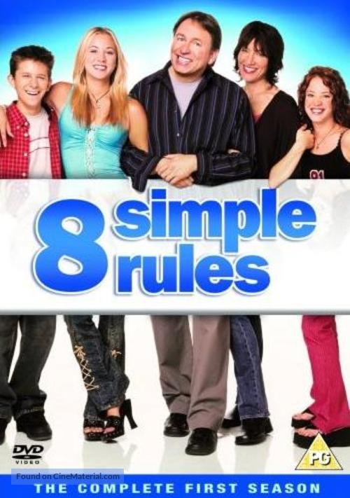 """""""8 Simple Rules... for Dating My Teenage Daughter"""" - British DVD movie cover"""