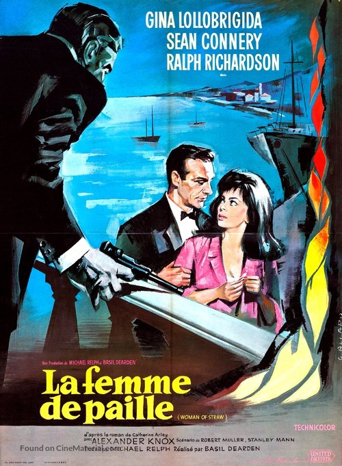 Woman of Straw - French Movie Poster