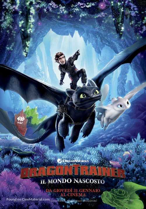 How to Train Your Dragon: The Hidden World - Italian Movie Poster