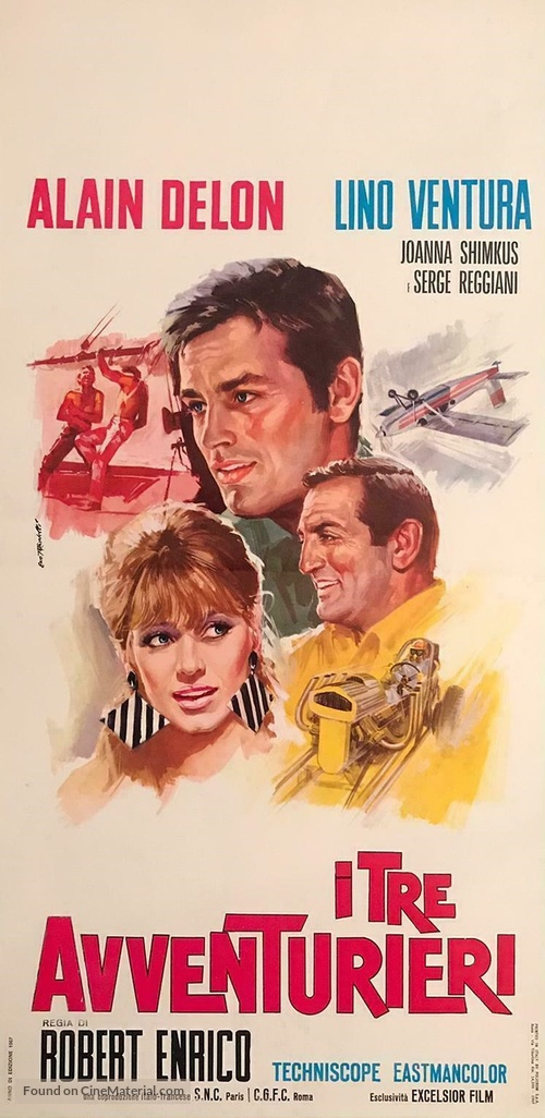 Les aventuriers - Italian Movie Poster